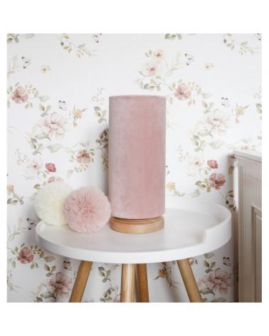 lampe de chevet tube velours rose