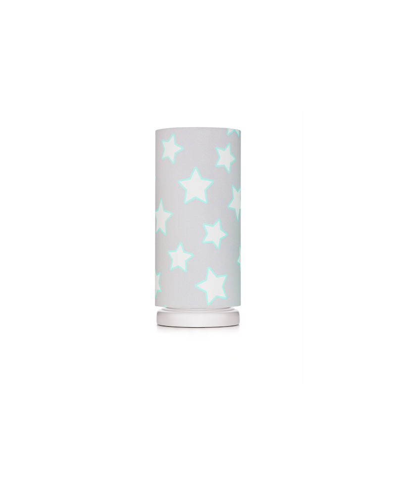 Lampe de chevet tube motif étoiles