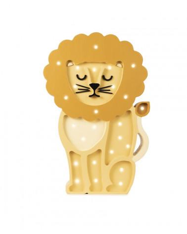lampe veilleuse en bois lion