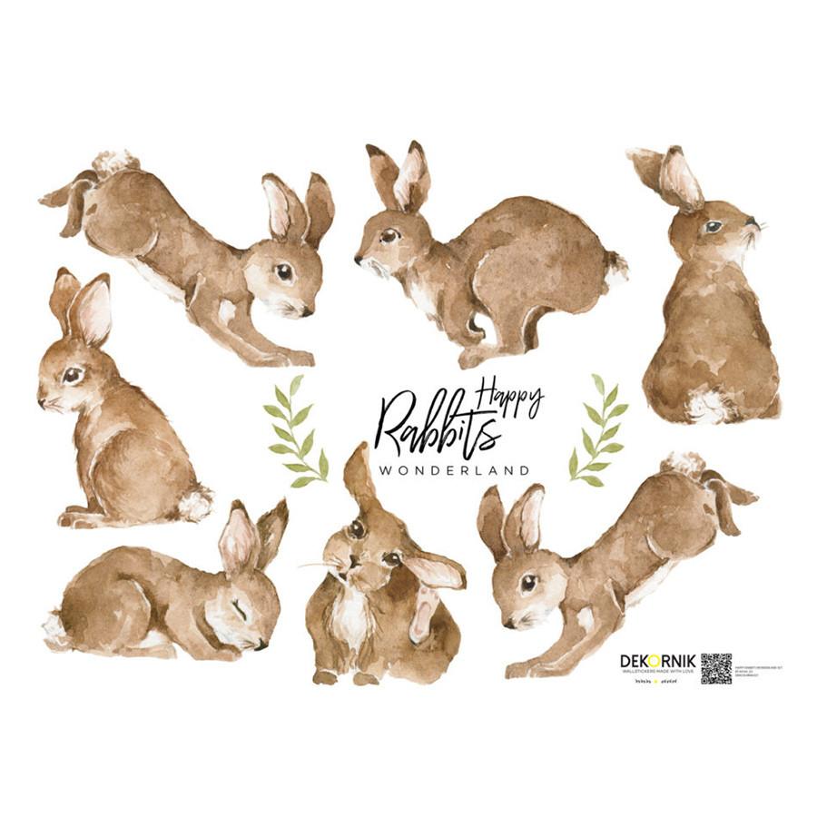 sticker enfant petits lapins