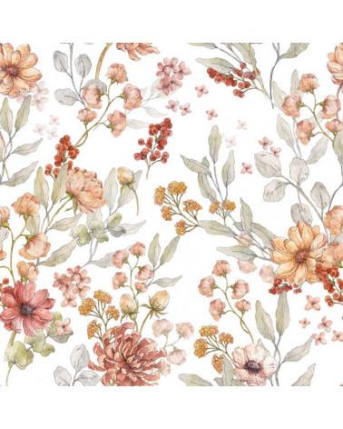 Papier peint fleurs d'automne