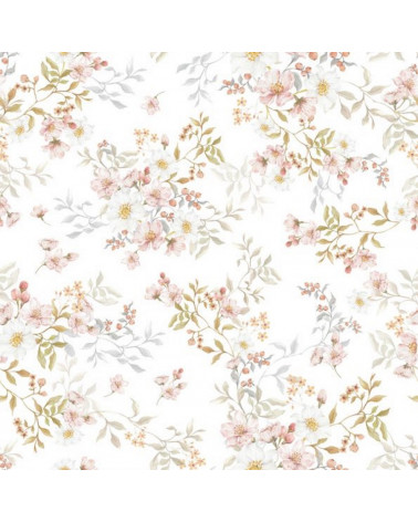 papier peint jardin pastel