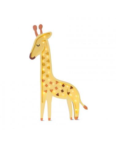 lampe en bois giraffe