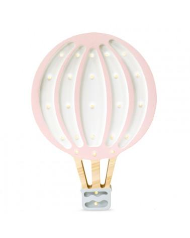 veilleuse montgolfière rose