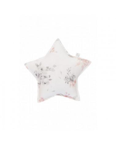 mini coussin étoile fleurs pastel