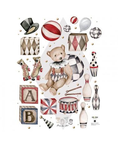 Sticker Ourson et ses jouets