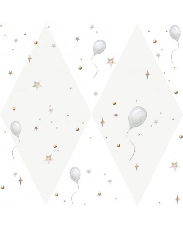 papier peint petits ballons gris