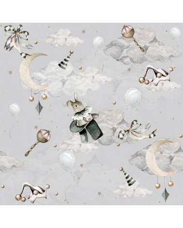 papier peint lapin magicien