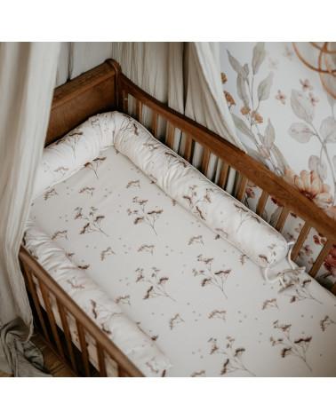 Tour de lit rouleau 200 cm - jardin d'automne