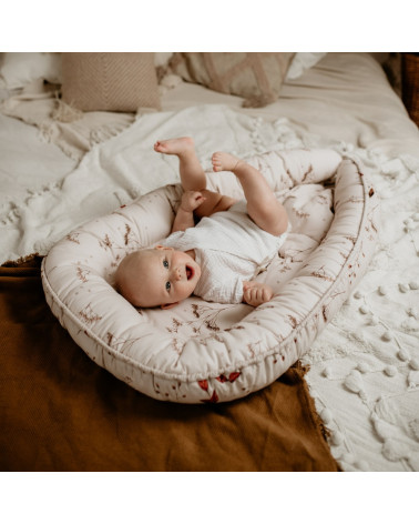réducteur de lit bébé réversible - jardin d'automne