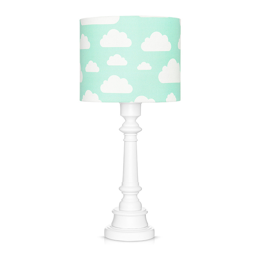 Lampe à poser nuages menthe