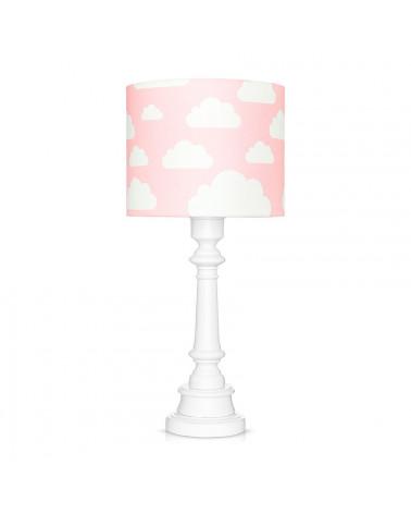 Lampe à poser nuages rose