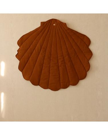 tapis de jeux coquillage caramel