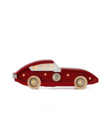 lampe veilleuse voiture de course mini rouge