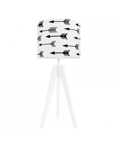 Lampe à poser trépied motif flèches