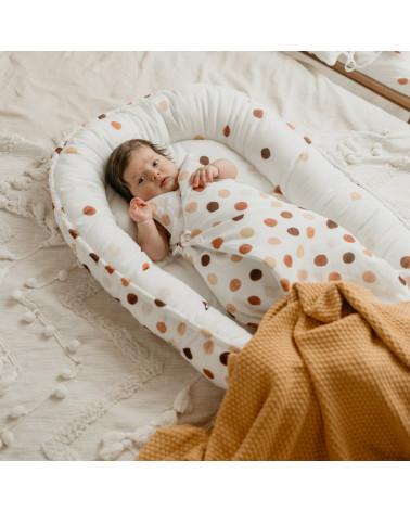 Réducteur de lit/ cocon bébé à pois