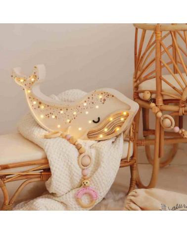lampe veilleuse baleine blanche