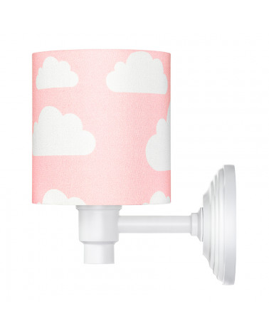 Applique murale enfant rose motif nuages