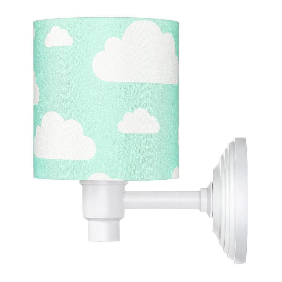 Applique murale menthe motif nuages