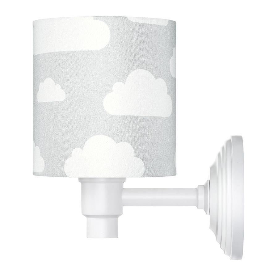 applique murale enfant grise motif nuages