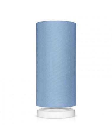 Lampe de chevet tube classique bleu