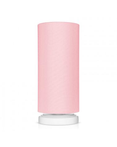 Lampe de chevet tube classique rose