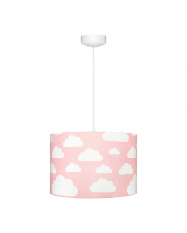 Suspension fille rose nuages