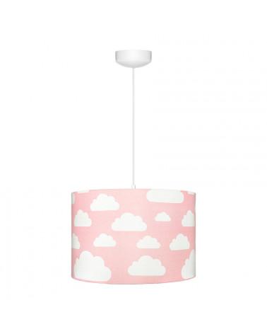 Suspension fille rose nuages