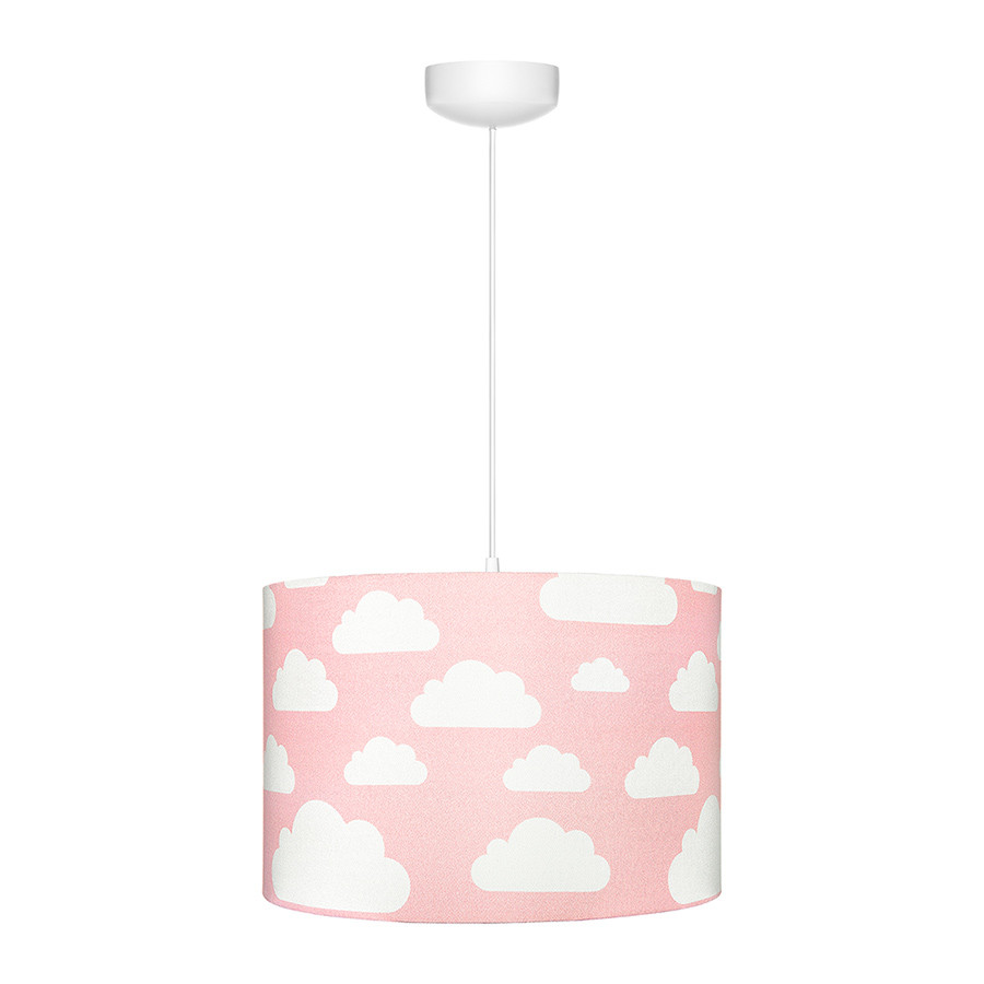 Suspension Ou Abat Jour Rose Motif Nuages