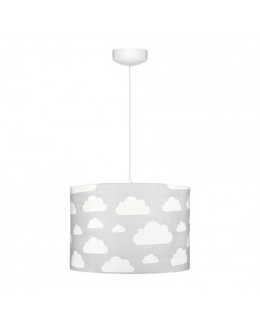 Suspension enfant grise nuages