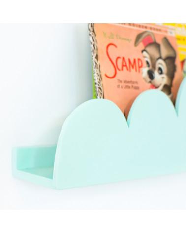 étagère nuage menthe coté