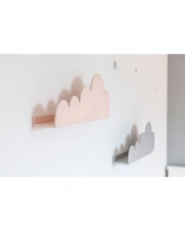 étagères nuage pêche et gris