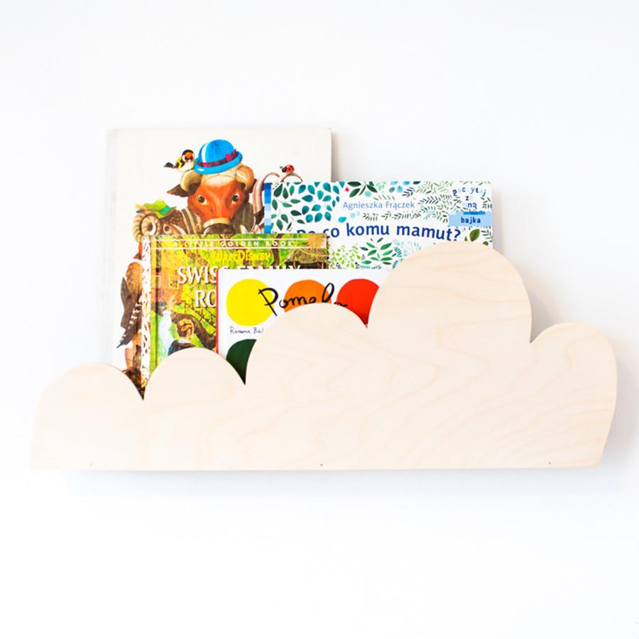 étagère nuage bois naturel