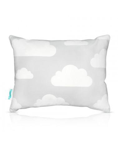 Coussin décoratif nuages menthe et gris cote