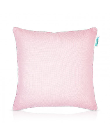 coussin uni rose