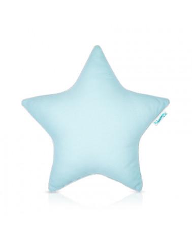 coussin forme étoile menthe
