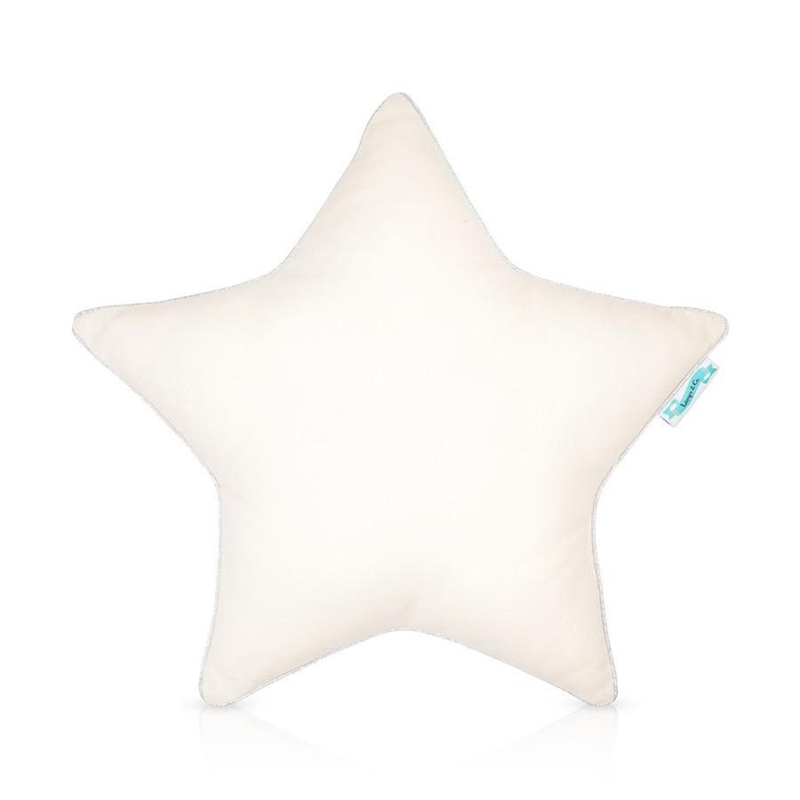 coussin étoile couleur écru