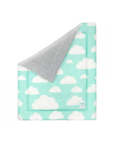 Couverture menthe nuages