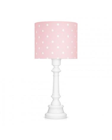 Lampe à poser pois rose