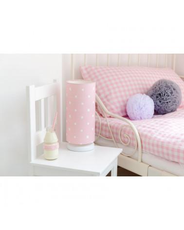 lampe de chevet enfant rose pois. Black Bedroom Furniture Sets. Home Design Ideas