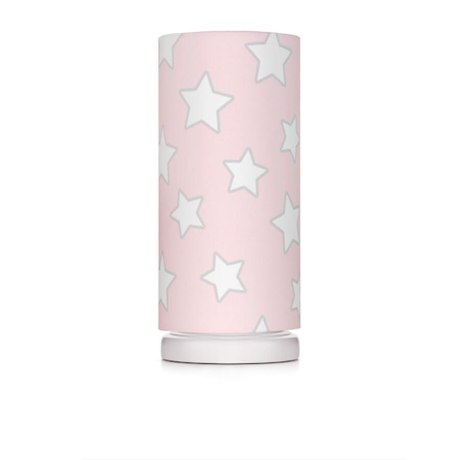 lampe de chevet tube étoiles rose