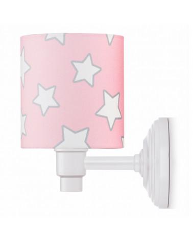 applique murale rose étoiles