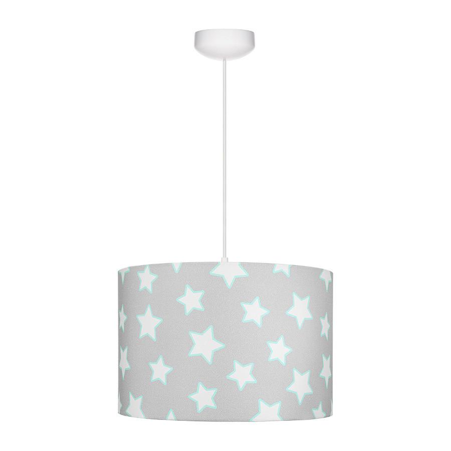 suspension gris motif étoiles