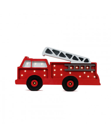Veilleuse en bois camion de pompier
