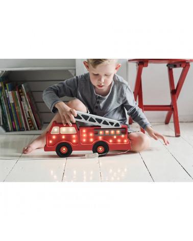Lampe Veilleuse En Bois Camion De Pompier