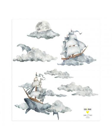 stickers enfant voyages sur les nuages