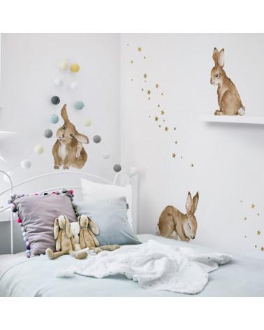 stickers enfant petits lapins 2