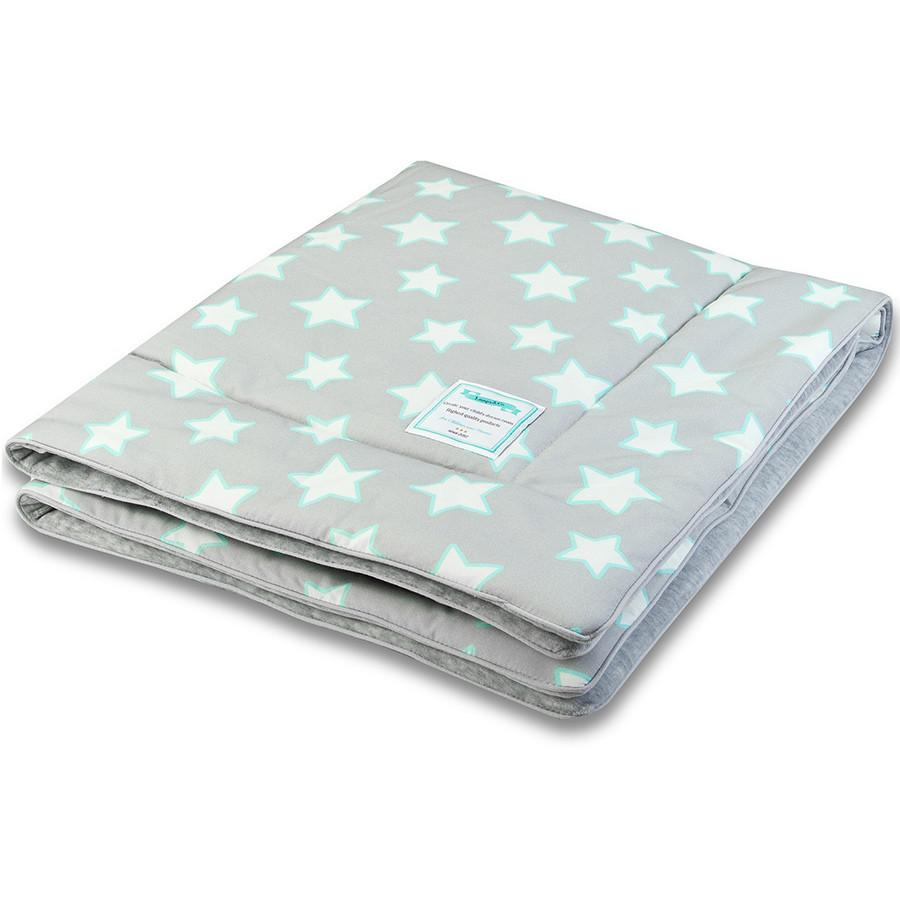 Couverture grise motif étoiles