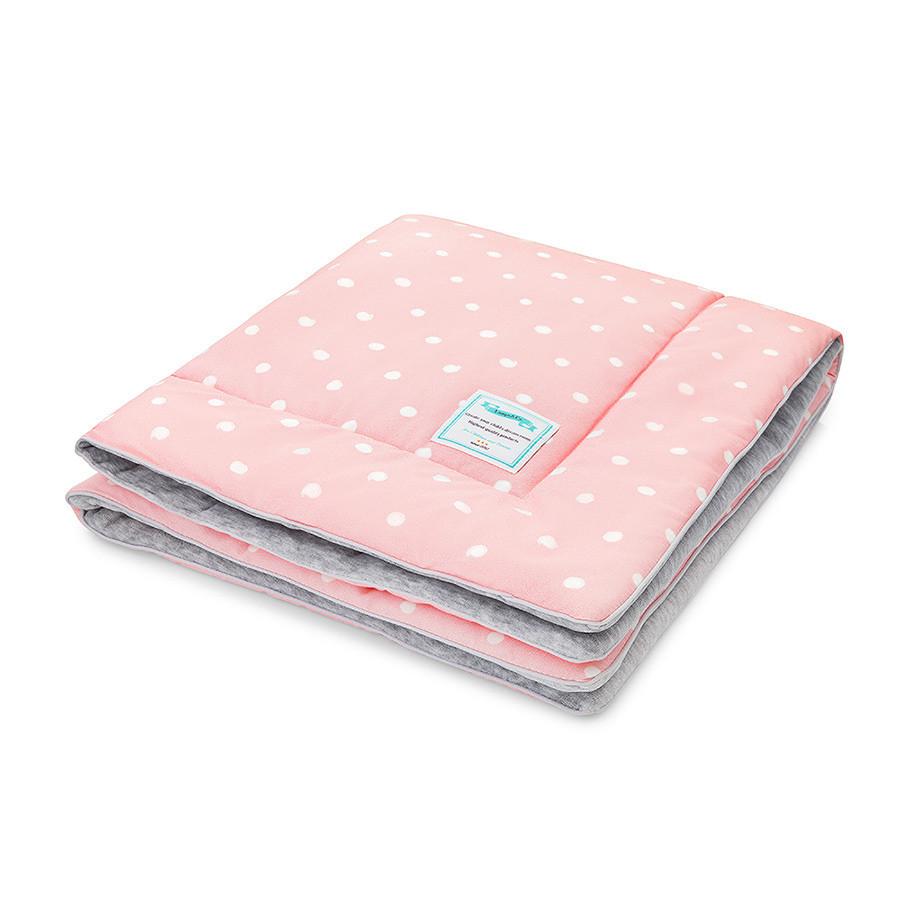 couverture rose chaude à pois
