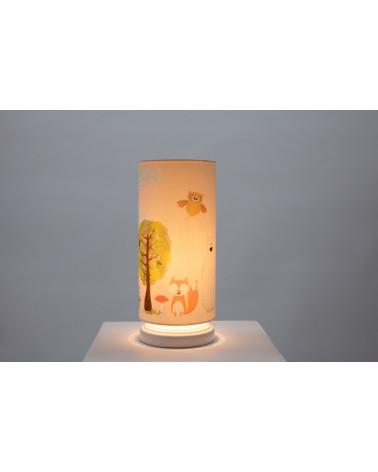 lampe de chevet amis de la forêt allumée